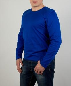 Футболка с длинным рукавом (лонгслив) насыщенный синий