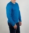Футболка с длинным рукавом (лонгслив) голубого цвета