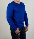 Лонгслив (футболка с длинным рукавом) синего цвета