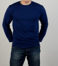 Лонгслив (футболка с длинным рукавом) тёмно-синего цвета