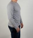 Лонгслив (футболка с длинным рукавом) серого цвета