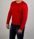Лонгслив (футболка с длинным рукавом) красного цвета