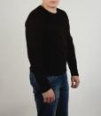 Лонслив (футболка с длинным рукавом) чёрного цвета